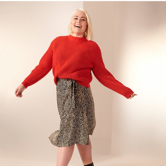 Nine West NWT Bright Red Knit Sweater